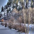 Winter Train by Kim French