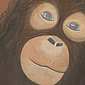 Wistful Chimpanzee by Norma Treasure Garwood