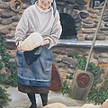 Woman Baking Bread  by Anna Poelstra Traga