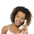 Woman Chatting On A Phone by