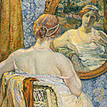 Woman In A Mirror by Theo van Rysselberghe