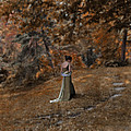 Woman In Green Gown  by Jill Battaglia