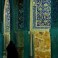 Woman In Mosque by Thijs Vrijstaat