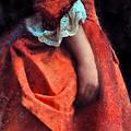Woman In Red 18th Century Gown by Jill Battaglia