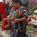 Woman In Traditional Guatemalan Dress by Elizabeth Rose