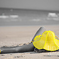 Woman In Yellow Hat by MotHaiBaPhoto Prints