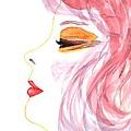 Woman Inner Trust Watercolor Painting by Georgeta  Blanaru
