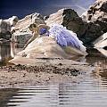 Woman On A Rock by Joana Kruse