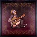 Woman Playing The Lyre by John Junek