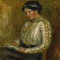 Woman Reading  by Pierre Auguste Renoir