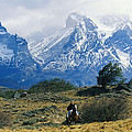 Woman Riding Horseback, Torres Del by Skip Brown
