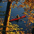 Woman Seakayaking On The Potomac River by Skip Brown