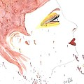 Woman Smile Watercolor Painting by Georgeta  Blanaru