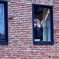 Woman Window Cleaner by Andrea Simon
