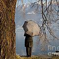 Woman With An Umbrella by Mats Silvan