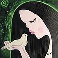Woman With Dove by Maria Nikolova
