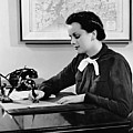 Woman Writing At Desk by George Marks