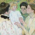 Women Admiring A Child by Mary Stevenson Cassatt
