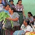 Women At The Chichicastenango Market by Elizabeth Rose
