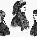 Womens Hats, 1868 by Granger