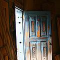 Wood Workers Door In Truchas New Mexico by Elizabeth Rose