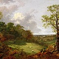 Wooded Landscape With A Cottage - Sheep And A Reclining Shepherd by Thomas Gainsborough