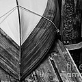 Wooden Boat On The Dock by Wilma  Birdwell