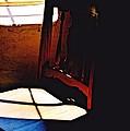 Wooden Chair In Light by Jennifer Choate