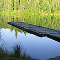 Wooden Dock On Lake by Anne Mott