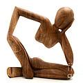 Wooden Statue by Fabrizio Troiani