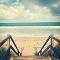 Wooden Steps At Beach by Jodie Griggs
