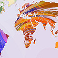 World Map Abstract Painted by Steve K