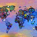 World Peace Tye Dye by Bill Cannon