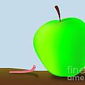 Worm And Big Apple by Michal Boubin