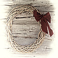 Woven Reed Wreath by Linda Phelps