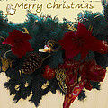 Wreath Garland Greeting by DigiArt Diaries by Vicky B Fuller