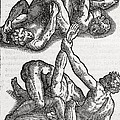Wrestling Moves, 16th Century Artwork by Middle Temple Library