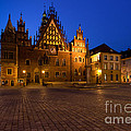 Wroclaw Town Hall At Night by Sebastian Musial