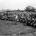 Wwii Artillery Commander Gives Pilots by Stocktrek Images