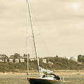 Yacht Entering Christchurch Harbour by Chris Day