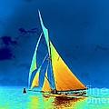 Yacht Gloriana 1891 by Padre Art