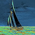 Yacht Idler Races For America's Cup 1901 by Padre Art
