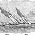 Yacht Race, 1854 by Granger