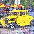 Yellow 1930's Ford Roadster by Randall Thomas Stone