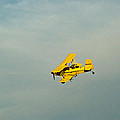 Yellow Airplane Crop Duster by Douglas Barnett