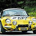 Yellow Alpine Renault by Alain De Maximy