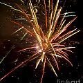 Yellow And Red Fireworks by Darleen Stry