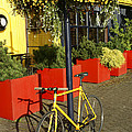 Yellow Bicycle Vancouver Canada by John  Mitchell