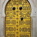 Yellow Door In Bardo by Laurel Talabere