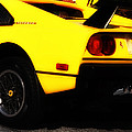 Yellow Ferrari by Bill Cannon